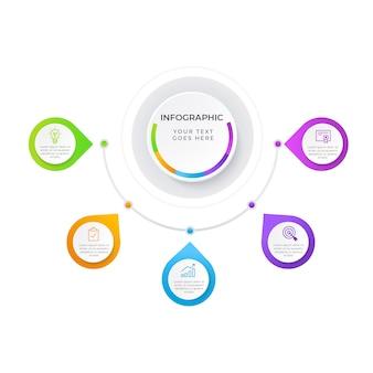 Красочный бизнес инфографики элемент