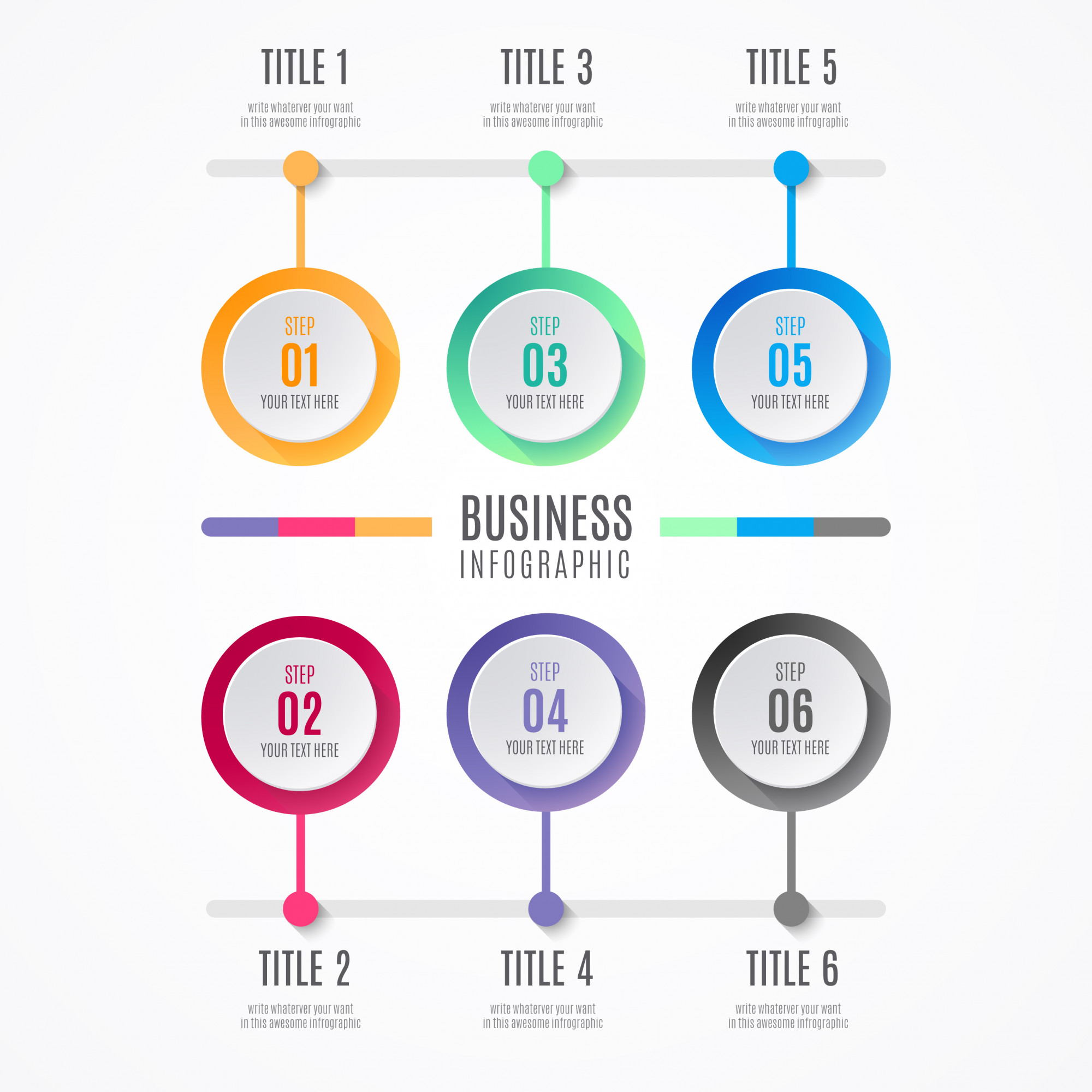 Colorful Business Infographic Elements