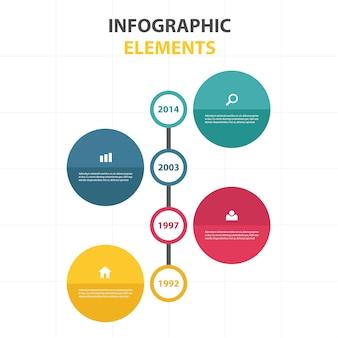 Красочный абстрактный круг шаблон бизнес инфографики