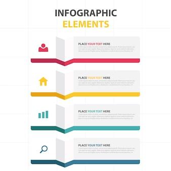 다채로운 비즈니스 infographic 템플릿
