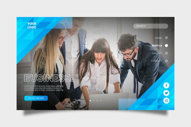Colorful business landing page template