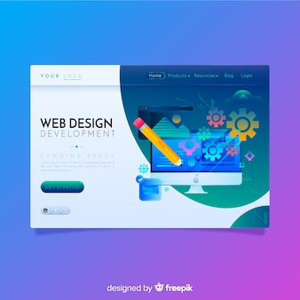 Colorful business landing page
