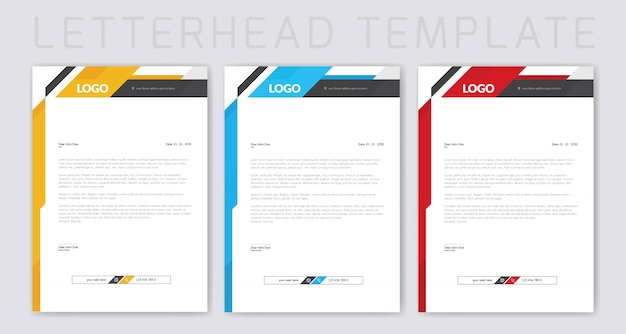 Colorful business letterhead design