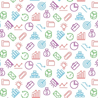 Colorful business pattern