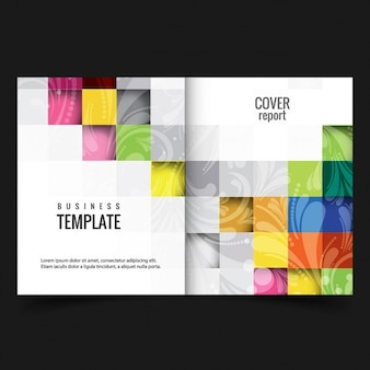 Colorful business report cover