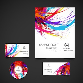 Colorful business stationery
