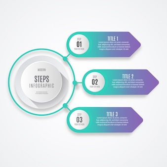 Colorful business step infographic