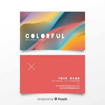 Colorful bussines card template
