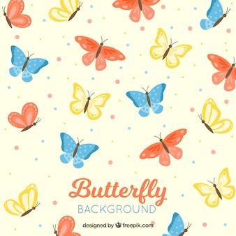 화려한 나비 배경