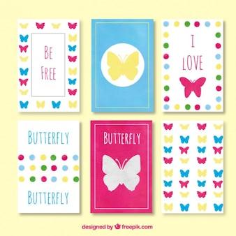 Carte farfalle colorate