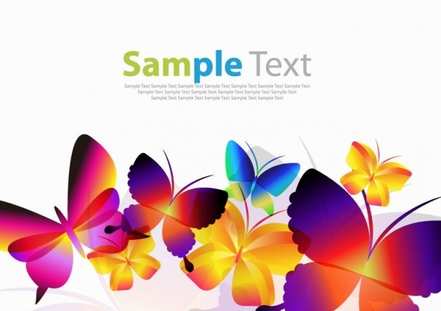 Colorful butterflies vector art