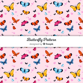 Colorful butterfly patter