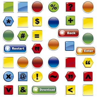 Colorful buttons collection