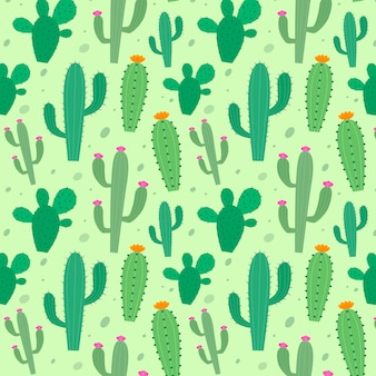 Colorful cactus pattern