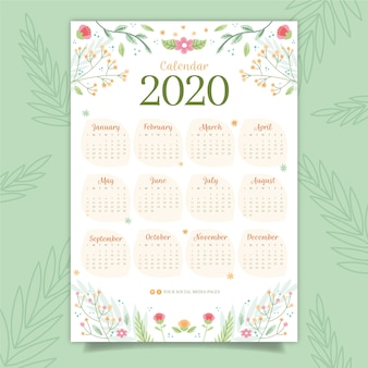 Colorful calendar 2020
