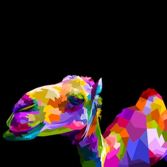 Colorful camel isolated