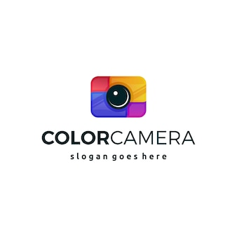 Colorful camera logo icon symbol