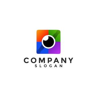 Colorful camera logo template