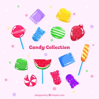 手描きのスタイルでカラフルなキャンデーコレクション