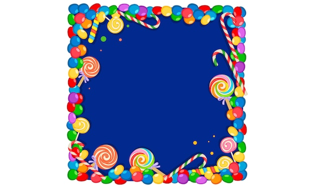 Colorful candy blank frame