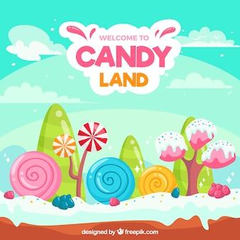 다채로운 캔디 토지 배경