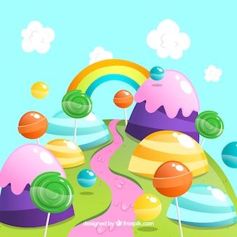 Красочный фон из конфет