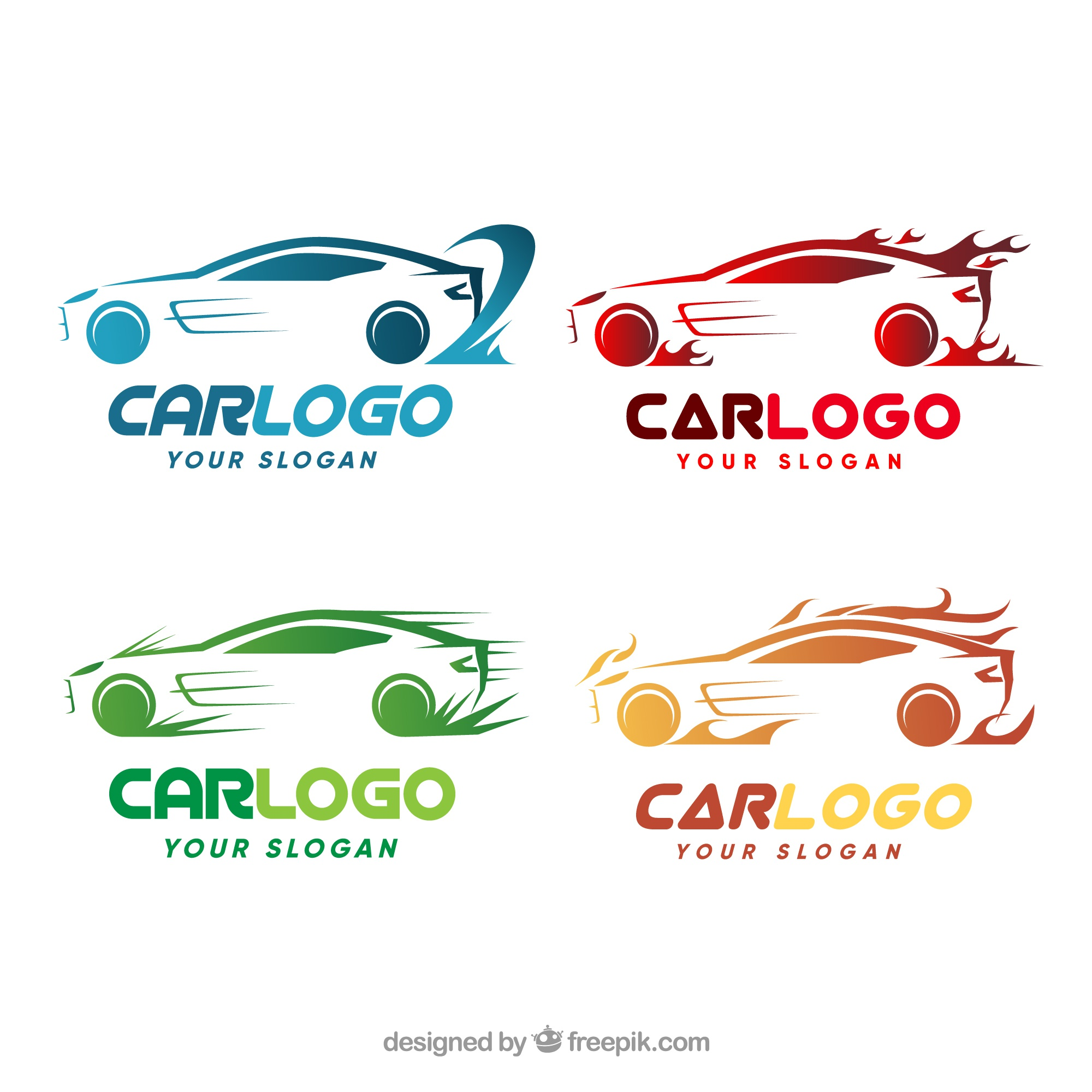 Colorful car logo pack