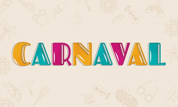 Colorful carnaval text.