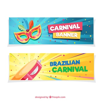 Colorful carnival banners