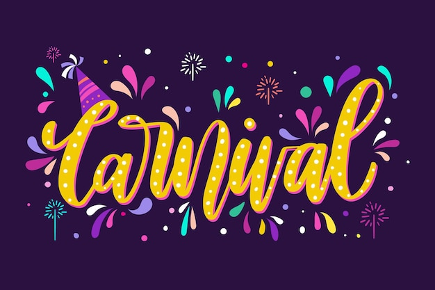 Colorful carnival lettering