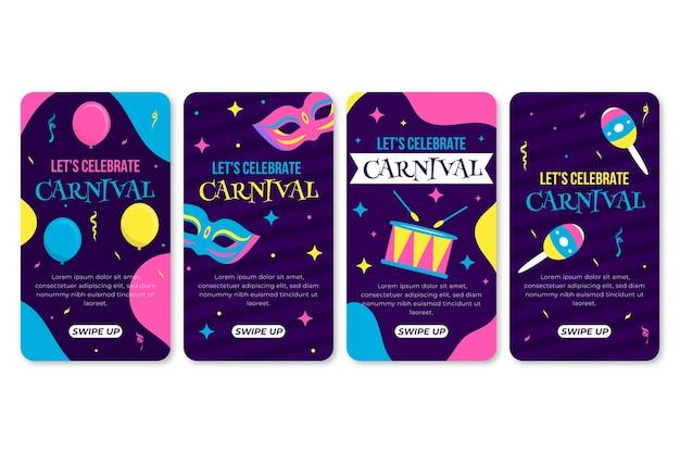 カラフルなカーニバルパーティーinstagram物語コレクション