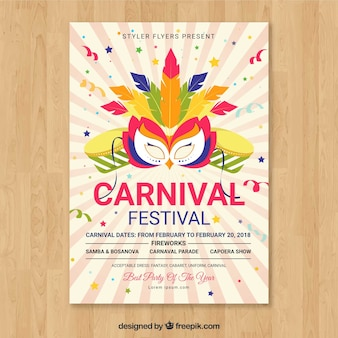 Colorful carnival party poster template