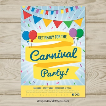 Colorful carnival poster template