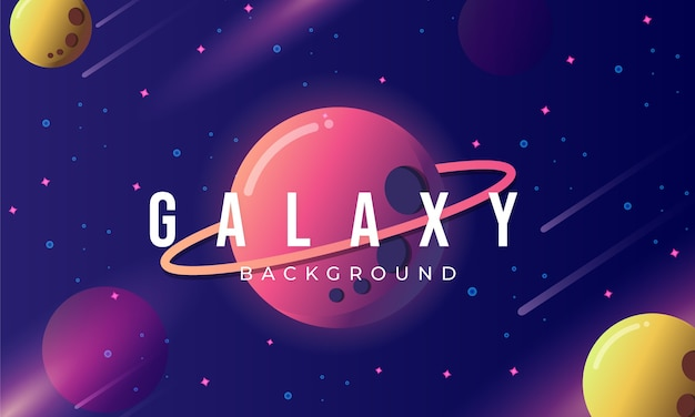 Colorful cartoon outer space background concept
