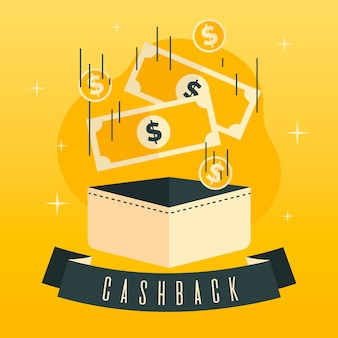 Colorful cashback concept