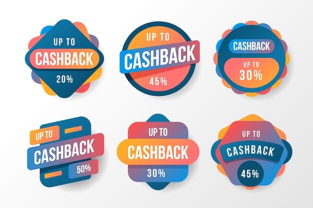 Colorful cashback labels