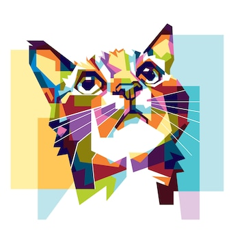 Colorful cat hope