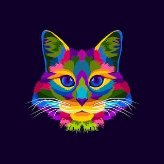Colorful cat illustration