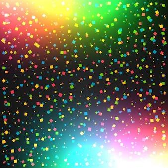 Celebrazione sfondo colorato con coriandoli