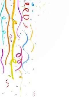 Colorful celebration ribbon with confetti