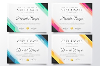 Colorful Certificate Template Collection