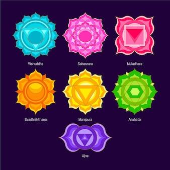 Pacchetto di chakra colorati