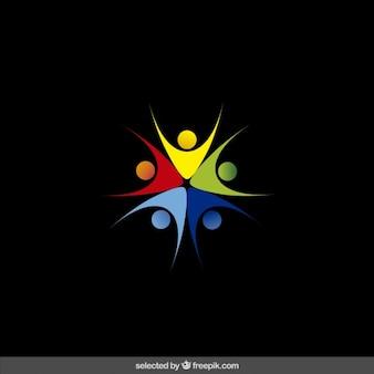 カラフルな慈善のロゴ