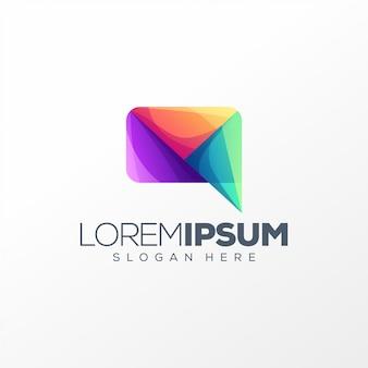 Colorful chat logo design