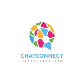 Colorful chat logo template