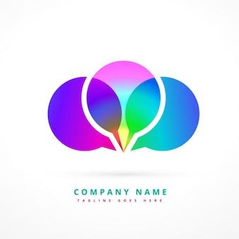 Colorful chat symbol logo