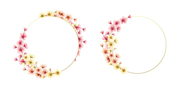화려한 벚꽃 봄 꽃 프레임