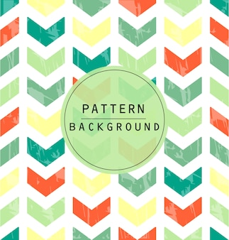 Colorful chevron pattern with scratched effect