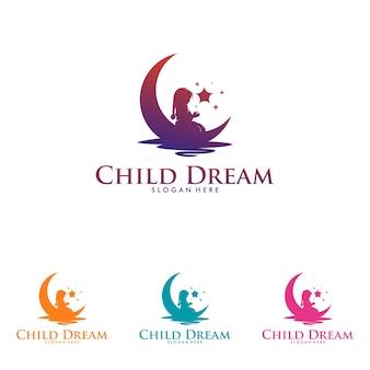 다채로운 어린이 꿈 로고 디자인 서식 파일