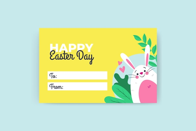 Colorful child-like easter gift tag